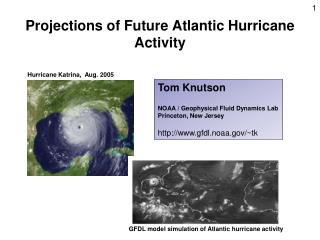 Projections of Future Atlantic Hurricane Activity