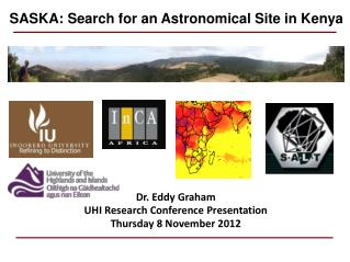 Dr.  Eddy Graham UHI Research Conference Presentation Thursday 8 November 2012