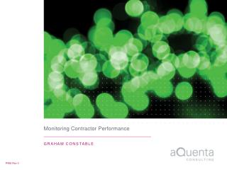 Monitoring Contractor Performance