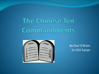 The Chinese Ten Commandments