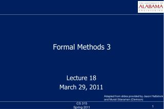 Formal Methods 3