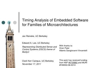 Timing Analysis of Embedded Software for Families of Microarchitectures
