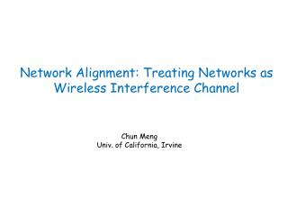 Network Alignment: Treating Networks as Wireless Interference Channel