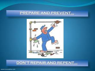PREPARE AND PREVENT…