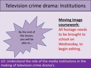 Television crime drama: Institutions