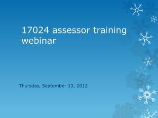 17024 assessor training webinar