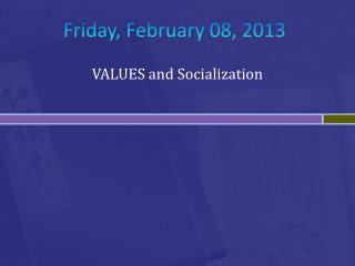 Friday, February 08, 2013