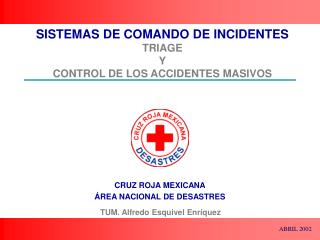SISTEMAS DE COMANDO DE INCIDENTES TRIAGE Y CONTROL DE LOS ACCIDENTES MASIVOS