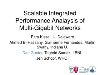 Scalable Integrated Performance Analaysis of Multi-Gigabit Networks