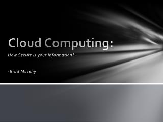 Cloud Computing: