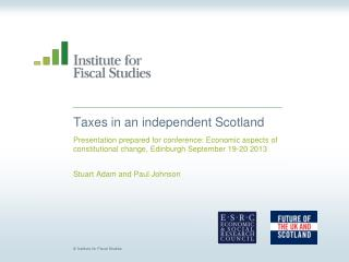 Taxes in an independent Scotland