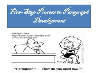 Five-Step Process to Paragraph Development