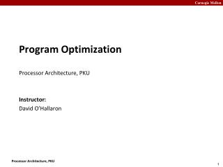 Program Optimization Processor Architecture, PKU