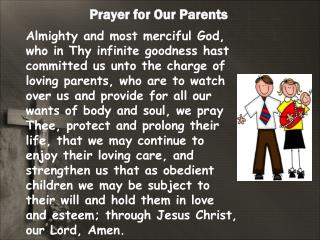 Prayer for Our Parents