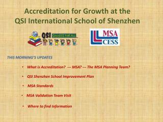 Accreditation for Growth at the  QSI International School of Shenzhen