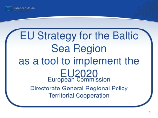 EU Strategy for the Baltic Sea Region