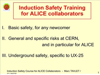 Induction Safety Training for ALICE collaborators