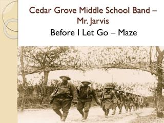 Cedar Grove Middle School Band – Mr. Jarvis