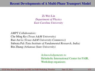 Recent Developments of A  Multi-Phase Transport  Model