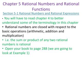 Chapter 5 Rational Numbers and Rational Functions