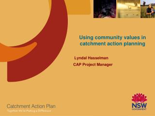 Using community values in catchment action planning