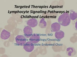 Targeted Therapies Against Lymphocyte Signaling Pathways in Childhood Leukemia