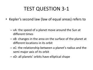 TEST QUESTION 3-1
