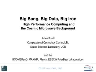 Big Bang, Big Data, Big Iron High Performance Computing and  the Cosmic Microwave Background