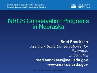 NRCS Conservation Programs in Nebraska