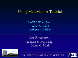 Using MetaMap: A Tutorial