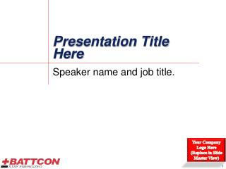 Presentation Title Here
