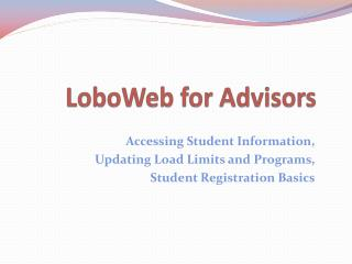 LoboWeb  for Advisors