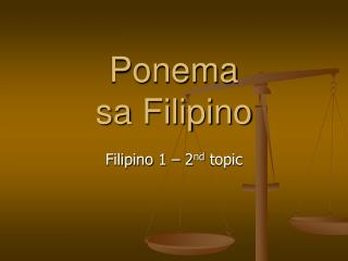 Ponema  sa Filipino