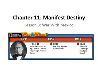 Chapter 11: Manifest Destiny