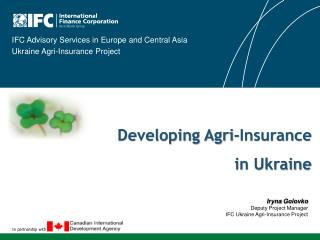 Developing Agri-Insurance  in Ukraine