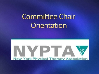 Committee Chair Orientation