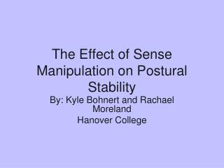 The Effect of Sense Manipulation on Postural Stability