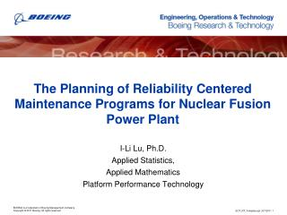 The Planning of Reliability Centered Maintenance Programs for Nuclear Fusion Power Plant