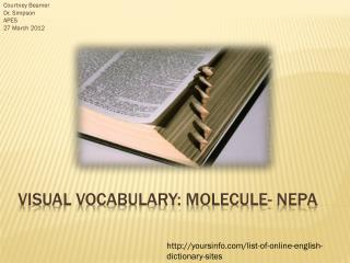 Visual Vocabulary: Molecule- NEPA