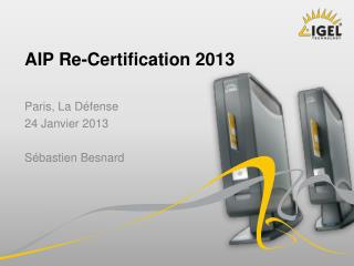 AIP Re- Certification  2013