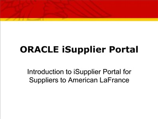 ORACLE iSupplier Portal