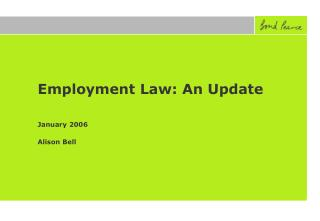 Employment Law: An Update