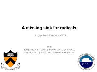 A missing sink for radicals