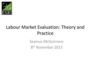 Labour Market Evaluation: Theory and Practice