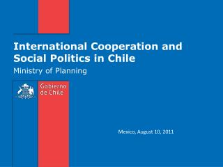 International  Cooperation  and Social  Politics  in Chile