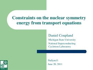 Constraints on the nuclear symmetry energy from transport equations