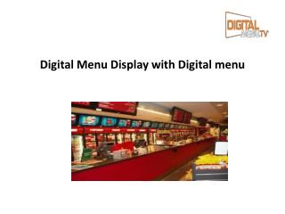 Digital Menu Display with Digital menu