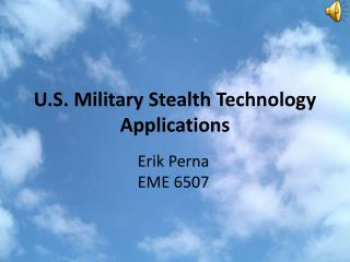 U.S. Military Stealth Technology Applications