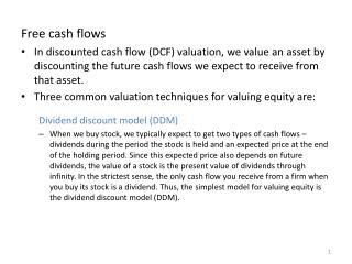 Free cash flows