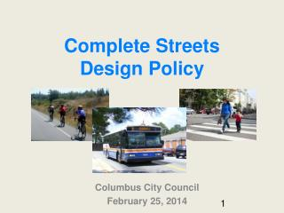 Complete Streets  Design Policy